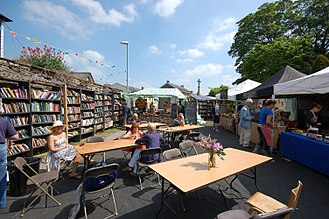 Hay-on-Wye - Hay Castle bookshop