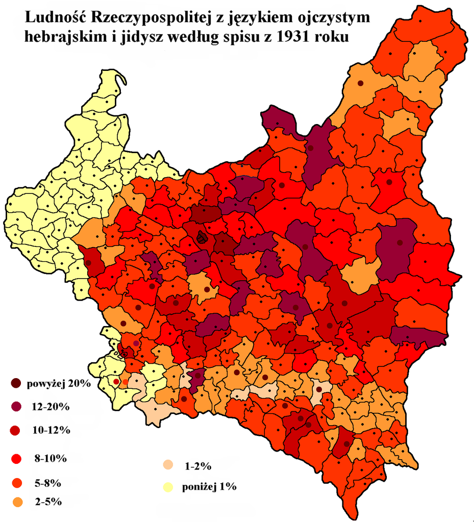 File:Hebrew and Yiddish language frequency in Poland in ...