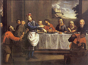 Jan Jiří Heinsch - Saint Wenceslaus is Serving the Paupers by the Table (1685)