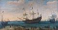Hendrick Cornelis Vroom Het uitzeilen van een aantal Oost-Indiëvaarders (1600).jpg