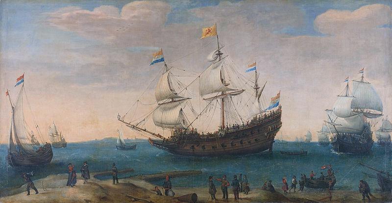 File:Hendrick Cornelis Vroom Het uitzeilen van een aantal Oost-Indiëvaarders (1600).jpg