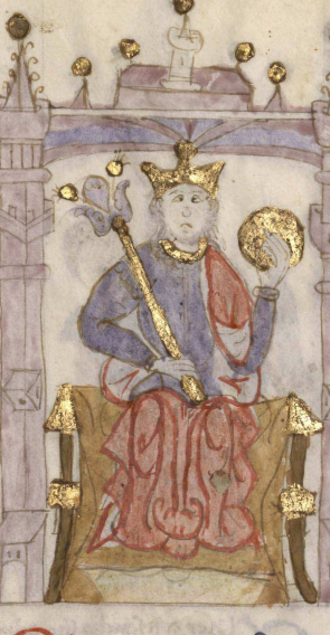 Henry I of Castile - King Henry I in the Castilian manuscript Compendium of Chronicles of Kings (...) (c. 1312-1325).