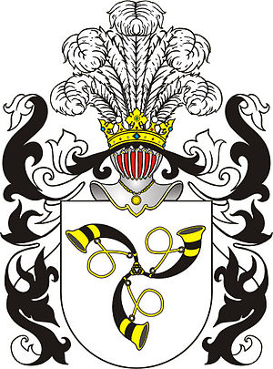 Radziwiłł family - Trąby coat of arms, granted to Kristinas Astikas' family in 1413
