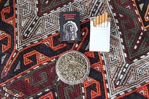 Herbal cigarette - A pack of tobacco-free American Indian brand herbal cigarettes