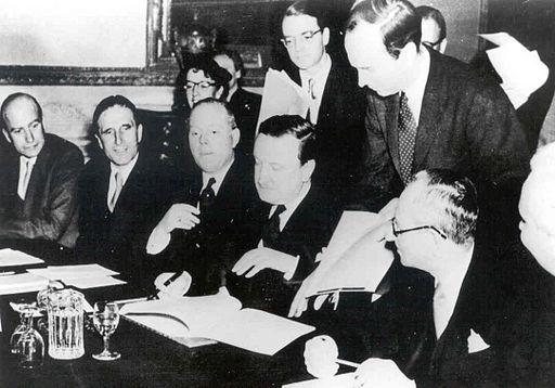 Hermann Josef Abs - LSA 1953 Unterzeichnung