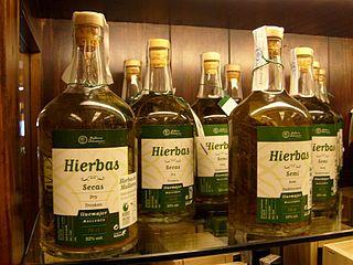 Herbs de Majorca Spanish herbal drink, Majorcan herbal liquor