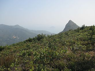Cham Shan Monastery - View of High Junk Peak. Cham Shan Monastery can be seen in the distance on the left.