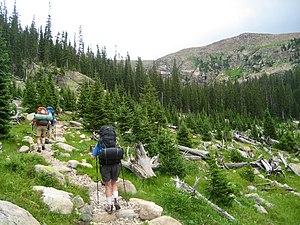 North Inlet Trail - Image: Hikers on the North Inlet Trail