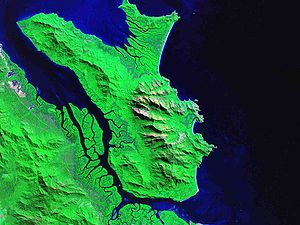 Hinchinbrook Island - False-colour image of Hinchinbrook Island