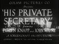 His Private Secretary 1933 01.png