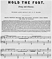 Hold the Fort original sheet music p1 (Hold the Fort!, Scheips).jpg