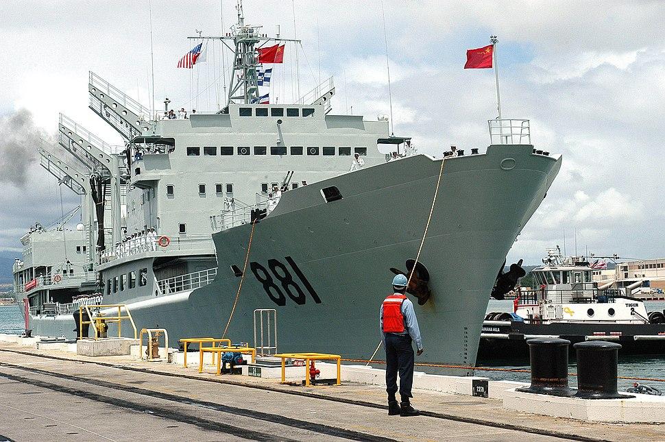 Hongzehu (AOR 881) docks at Pearl Harbor 060906-N-4856G-051 0TWVK