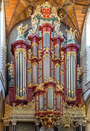 The Müller organ in the Grote Kerk, Haarlem in the Netherlands