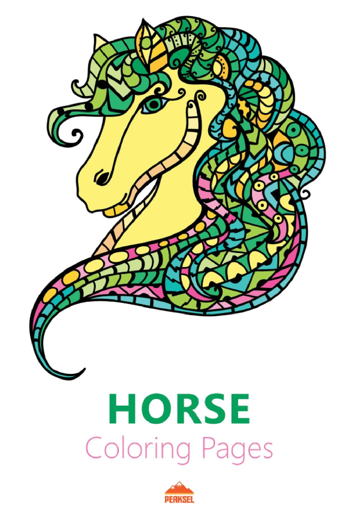 File:Horse Coloring Pages - Printable Coloring Book for Adults.pdf ...