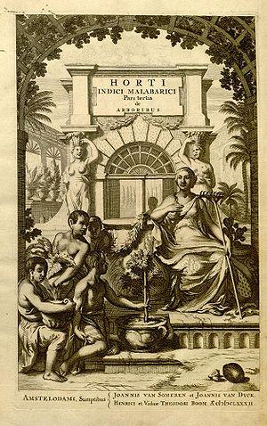 Hortus Malabaricus - Frontispiece of volume 1.