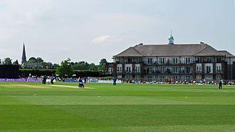 County Cricket Ground, Beckenham - Image: Housing at Beckenham
