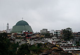 Huauchinango City in Puebla, Mexico