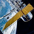Hubble Solar Array Deployment STS-31.jpg