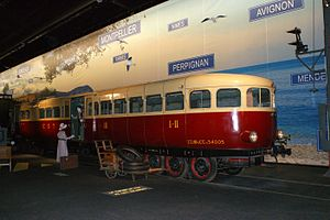 Budd–Michelin rubber-tired rail cars - A Micheline Type 22 at Cité du Train in Mulhouse