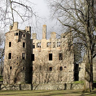 Clan Gordon - The ruins of Huntly Castle, historic seat of the Gordons of Huntly, chiefs of Clan Gordon.