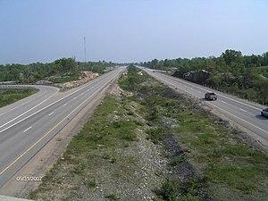 Ontario Highway 400 - Highway 400 at exit 156 in Port Severn