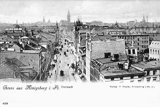 Vorstadt (Königsberg) - View of Vorstadt from the south
