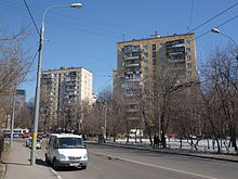 II-18-12 buildings near bus station at Peschanaya Street.JPG