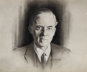 Stafford Cripps - Sketch of Cripps commissioned by the Ministry of Information in the World War II period