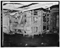 INTERIOR, FIRST FLOOR, SOUTHEAST CORNER SHOWING MACHINERY FRAME - Robeson-Williams Grist Mill, Roslyn, Nassau County, NY HABS NY,30-ROS,3-4.tif