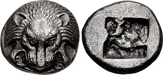 Polycrates - Coinage of Samos at the time of Polycrates. Circa 530-528 BC.