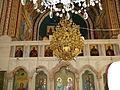 ISRAEL, Biserica Sfantului Teodosie, plafon - candelabru(2).JPG