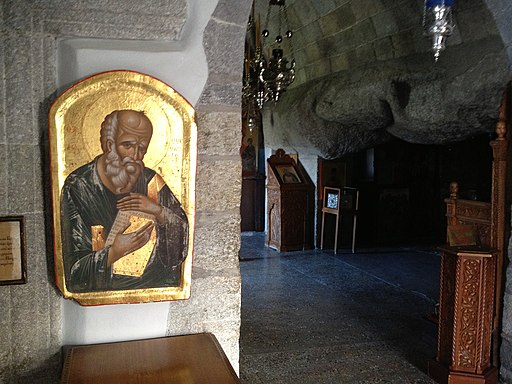 Johannesgrotte/Höhle der Apokalypse (Innenraum) auf der Insel Patmos (UNESCO-Welterbe in Griechenland). Icon of St John (8695850304)
