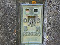 Identification plate, triangulation pillar, Ravensroost Wood - geograph.org.uk - 1234547.jpg