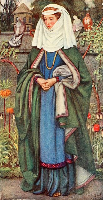 Enide - Enid  (in the Idylls of the King), illustrated by Eleanor Fortescue-Brickdale