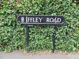 Iffley Road - Iffley Road street sign.