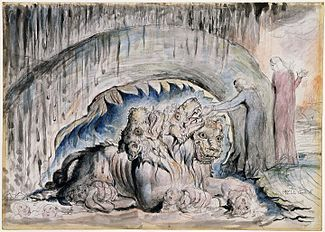 Illustrations to Dante's Divine Comedy object 13 Butlin 812-13 Second Version of Cerberus