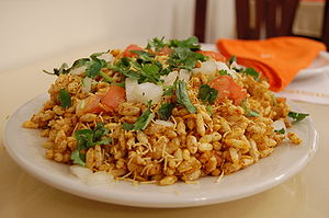 Bhelpuri - Image: Indian cuisine Chaat Bhelpuri 03