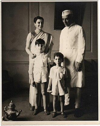 Rajiv Gandhi - Indira Gandhi, Jawaharlal Nehru, Rajiv Gandhi and Sanjay Gandhi