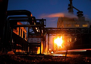 Dashanzi - Factory in Dashanzi at night