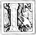 Initial at page 3 of Indian Fairy Tales (1892).png