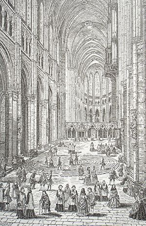 Labyrinth - Chartres Cathedral, about 1750, Jean Baptiste Rigaud