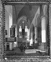 interieur (niet geheel juist), reproductie van schilderij door em. de witte 1661, (particulier bezit). - amsterdam - 20012057 - rce
