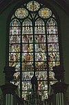 interieur noordertransept, overzicht glas in loodraam- geboorte - lith - 20334141 - rce