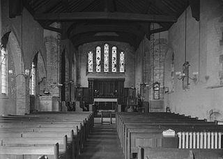 Interior of St. Cadmarch's church, Llangammarch Wells