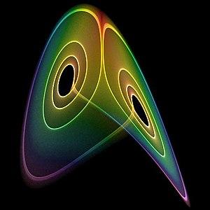 Lorenz system - Image: Intermittent Lorenz Attractor Chaoscope