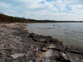 Shoreline and beach area, Lake Huron