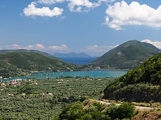 Mediterranean climate - The Ionian Sea, view from the island Lefkada, Greece