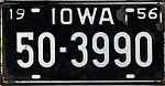 Iowa 1956 license plate - 50-3990.jpg