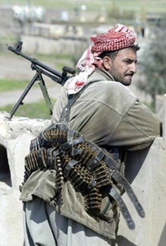 Peshmerga - Iraqi Kurdish peshmerga fighter (KDP) in 2003.