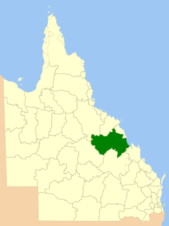 Isaac Region - Location within Queensland